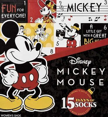 Disney Mickey Mouse 12 Days of Socks Advent Calendar Gift Set + Bonus 3 Socks