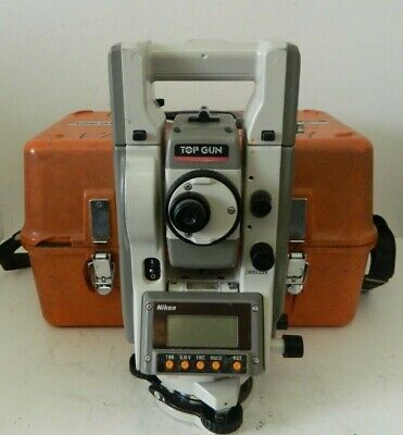 Nikon Top Gun C-100 Total Station Land Surveying Equipment W Case 2