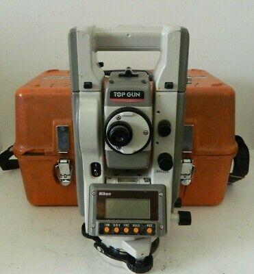 Nikon Top Gun C-100 Total Station Land Surveying Equipment W Case 2