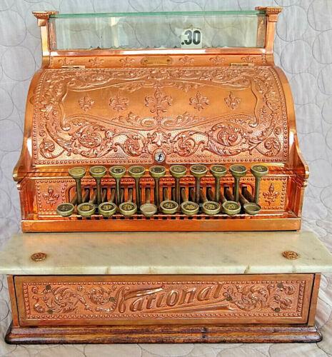 National Cash Register Model 226 -Year 1909 - Excellent Shape - Antique Polished