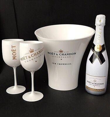Moet & Chandon Ice Imperial Champagner 0,75l 12% Vol + 2 Moët Becher + Kühler