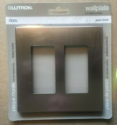 lot of 12 Lutron Claro 2 Gang Decorator Wall plate, Stainless Steel CW-2-SS Gang Claro Decorator Wall Plate