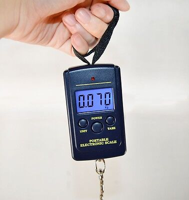 40Kg Digital LCD Luggage Scale Fishing Hanging Weight Electronic Pocket Scale
