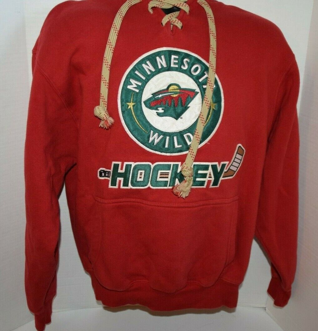 NHL Minnesota Wild Pullover Hoodie Sweatshirt Small S The Hockey Lodge Red