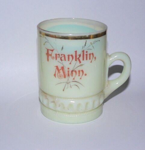 Franklin Minnesota Minn MN Souvenir Custard Glass Cup Mug 1890-1910