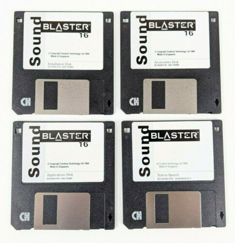 Creative Technology Labs Sound Blaster 16 Install, Applications +2 Floppy Disks