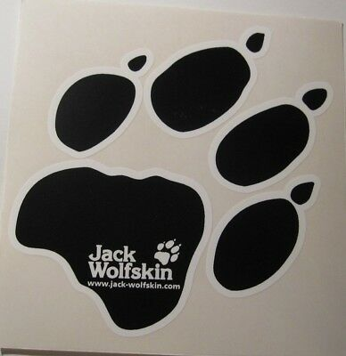 "Lot of 3 Jack Wolfskin Vinyl Decal Window Stickers 2.5/"" x 5.75/"""