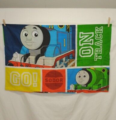 Thomas the Tank Engine Standard Pillow Case Sodor James Percy Red Blue Green