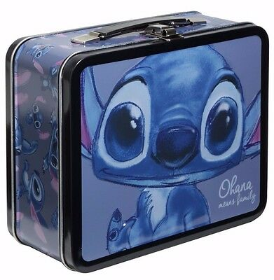 Disney Lilo & Stitch Chibi Ohana Means Family Metal Tin Tote Lunch Box Loungefly