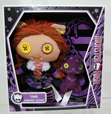 """Monster High Clawdeen Wolf and Crescent Friends Soft Plush Doll Toy 9"""""""