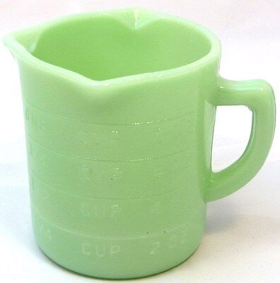 3 SPOUT~JADE/JADITE GRN. MILK GLASS MEASURING CUP~1 C~NEW~FOOD & DISHWASHER SAFE