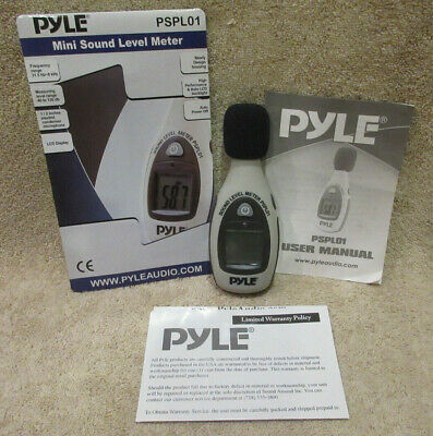Pyle Pspl01 Mini Sound Level Meter W Instructions -tested Working -pics