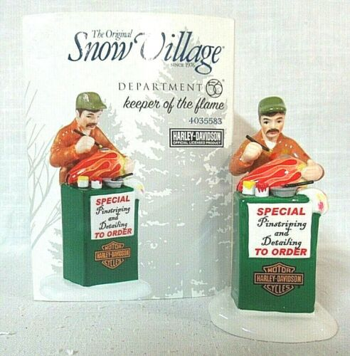 Department 56 Snow Village Harley-Davidson Accessory  Keeper Of the Flame
