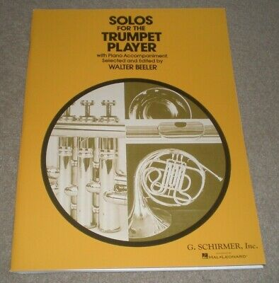 Solos for the Trumpet Player with Piano Accompaniment By Beeler Sheet Music Book Trumpet Piano Music
