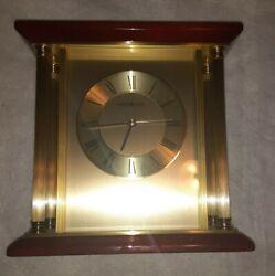 Excellent Condition  Howard Miller 645-391 Carlton Table Clock (C08885)