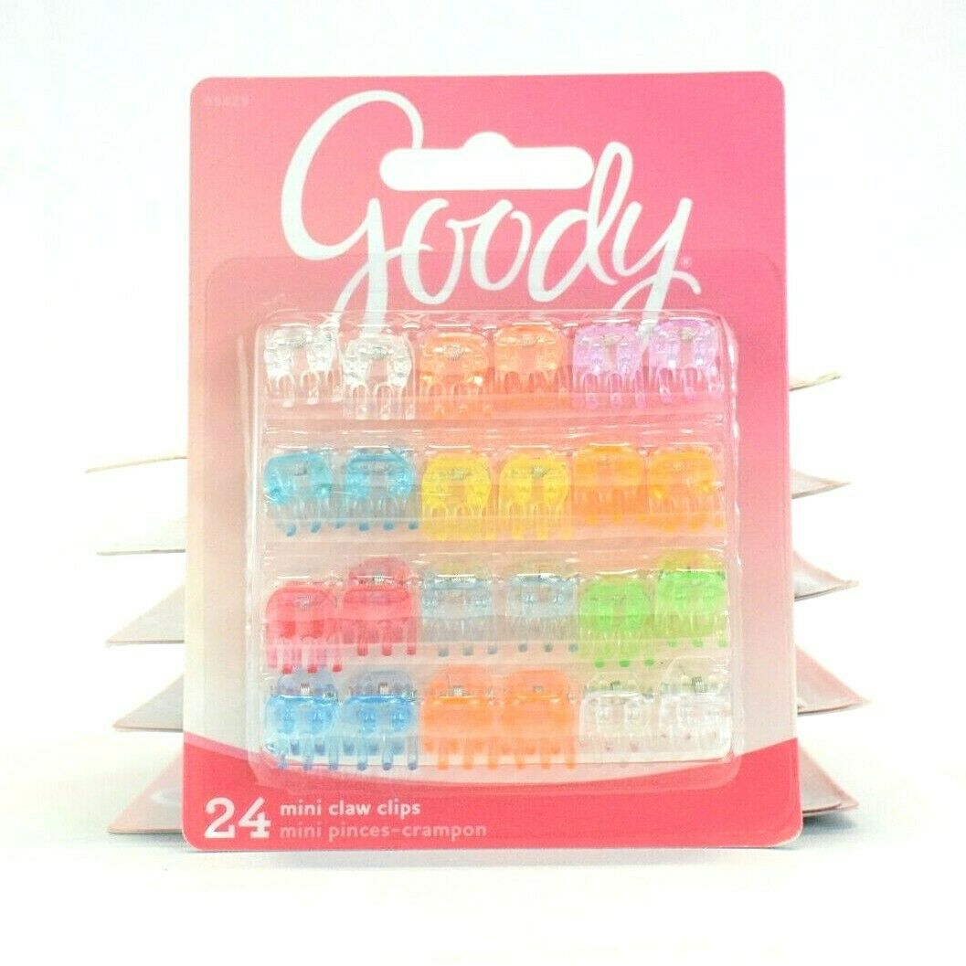 Goody Styling Essentials Gd09429 Girls Claw Clips, Mini 24 C