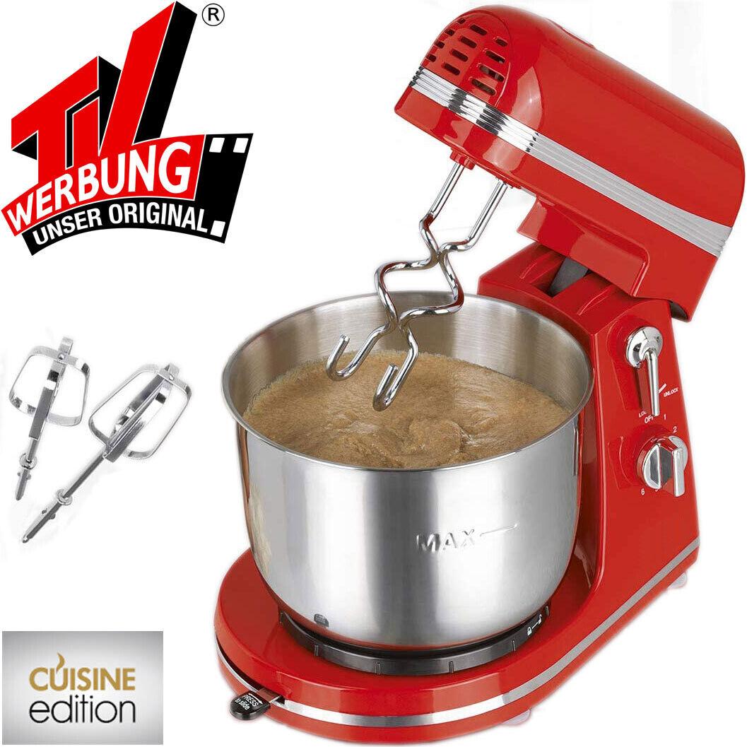 Handrührgerät Edelstahl Rührschüssel 3 Liter Hand Mixer Küchenmaschine Retro NEU
