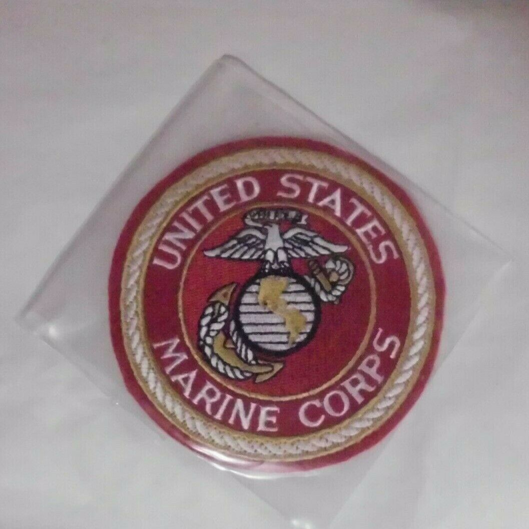 United States Marines EMB Red Patch