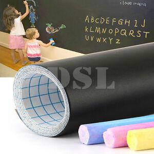 200 x 60cm Removable Blackboard Vinyl Wall Sticker Chalkboard Decal + 5 Chalk UK