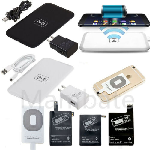 Iphone 5 Charger - Qi Wireless Charger Charging Pad + Receiver Kit + Adapter For iPhone Samsung