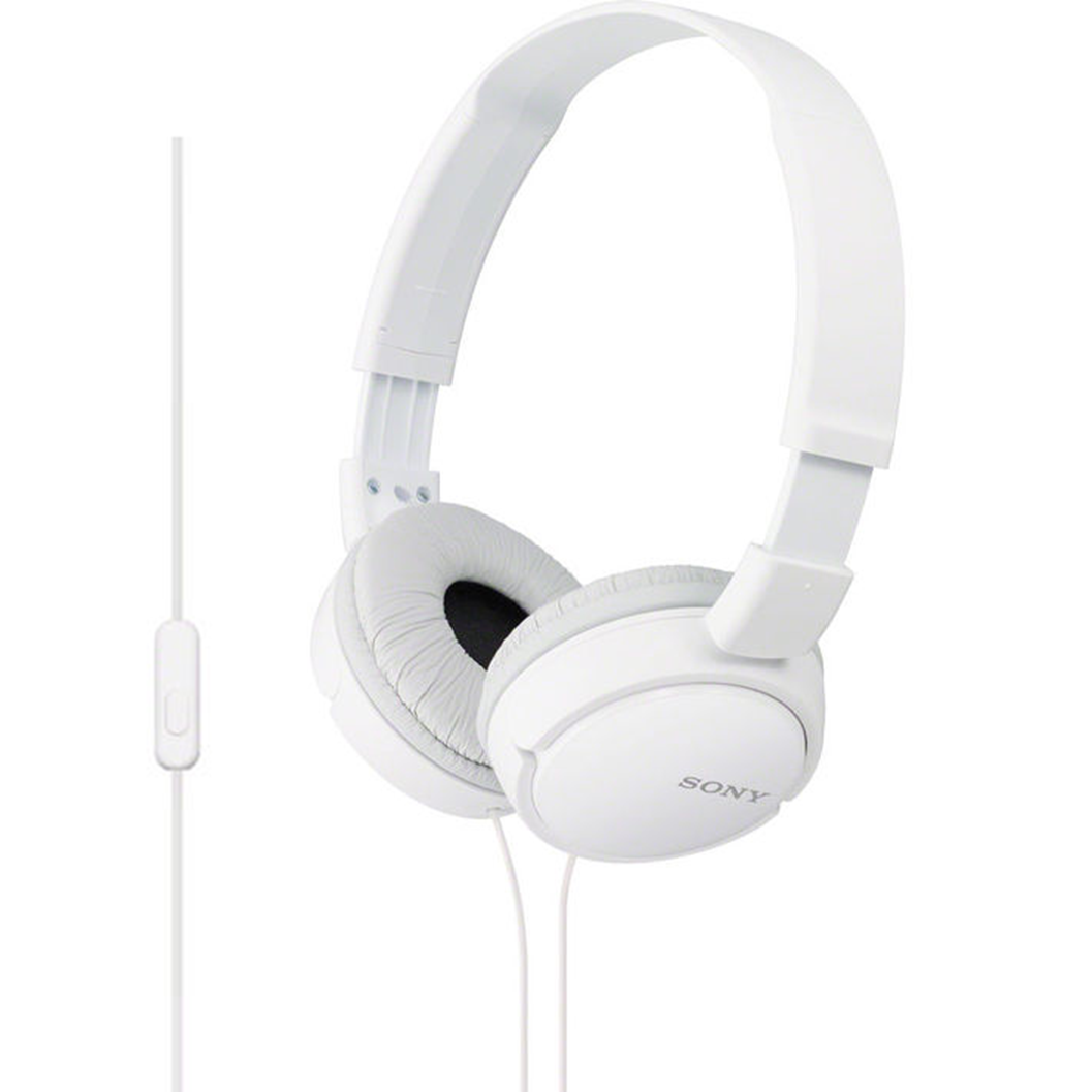Sony Headphone OverHead MDRZX110 Stereo  Extra Bass Black  White Colors NEW