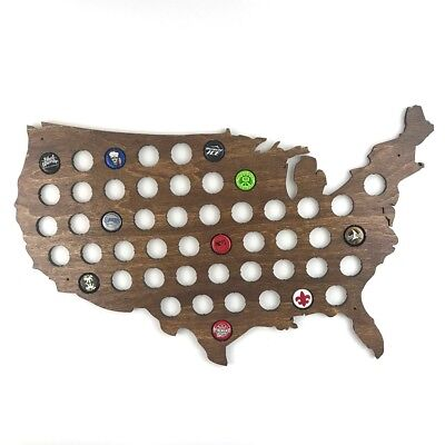 Beer Cap Map of USA Best Collection Display Gift for Beer Lovers