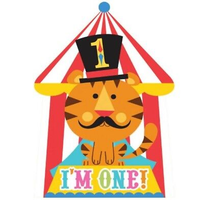 1st Geburtstag Zirkus-Thema Einladungen - Kinder Party Jungen oder Mädchen - 8 ()