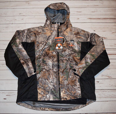 NWT HABIT Camo 3 in 1 All Weather Parka Jacket Real Tree Black Size Large L $99