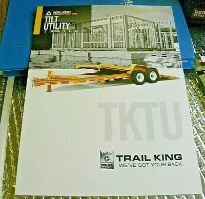 Factory 2015 Tktu Tilt Utility Trailers Open Bed Dealership Spec Brochure Manual
