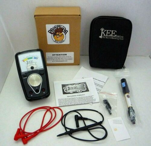 """Kee Gold Tester """"The Prospector"""" Upgraded Model M-509GM 18k - Gold Disc Included"""