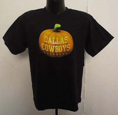 DALLAS COWBOYS YOUTH SHIRT HALLOWEEN EDITION PRINTED KIDS NFL FOOTBALL PUMPKIN - Halloween Dallas