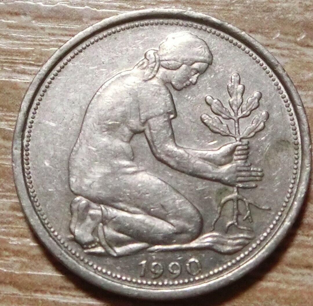 Bundesrepublik Deutschland 50 Pfennig 1990 F - 1,00 €