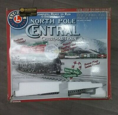 LIONEL NORTH POLE CENTRAL TRAIN 6-30068 CHRISTMAS TRAIN SET W/BOX O-SCALE