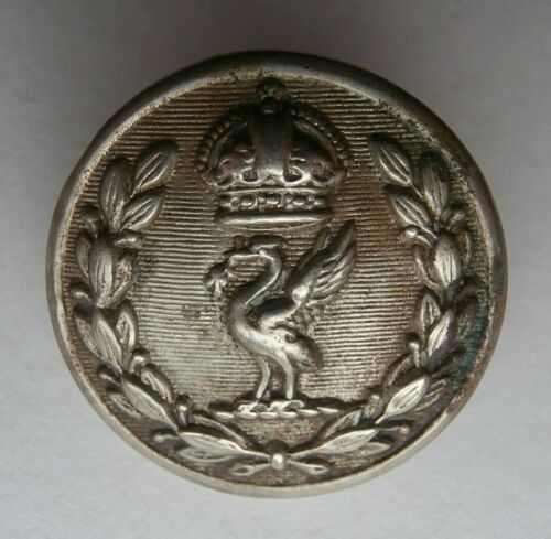 OBSOLETE EARLY K.C LIVERPOOL POLICE 24mm BUTTON BY W.DOWLER & SONS BIRMINGHAM