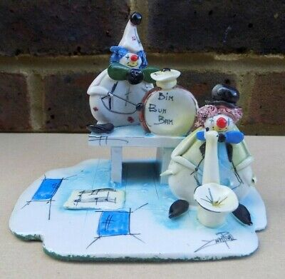 Italian ZAMPIVA Figure - Muscial Clowns Duo, used for sale  Shipping to Ireland