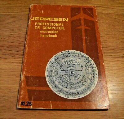 Vintage 1974 Jeppesen Professional CR Computer handbook / instruction manual