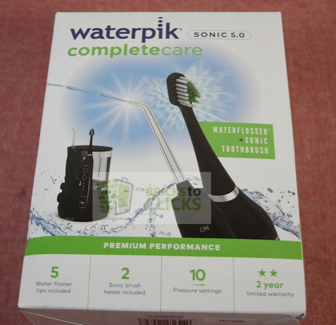 Waterpik Complete Care 5.0 Black Sonic Electric Toothbrush +