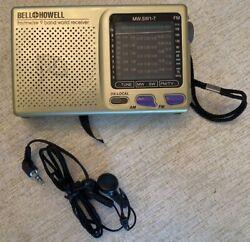Bell & Howell Shortwave Radio FM MW SW 9 Band World Receiver MW.SW1-7