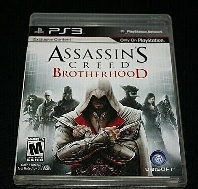 PS3 Assassin's Creed Brotherhood Video Game w/ Manual Case Disc Adult Owned  -V= (Adult Video Games Ps3)
