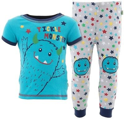 Monster Pajamas Toddlers (Duck Duck Goose Boys Tickle Monster Blue Cotton Pajamas Toddler)
