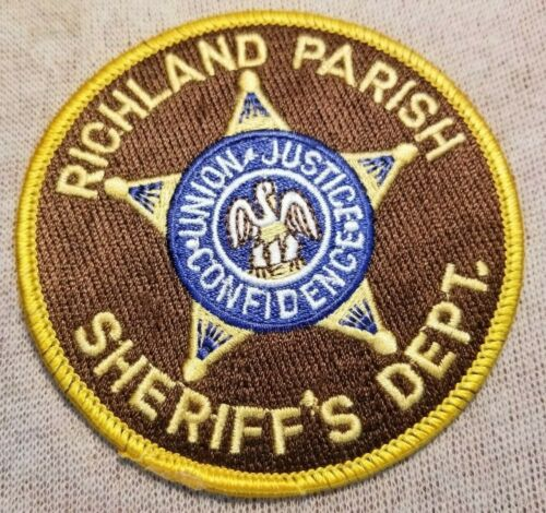 LA Richland Parish Louisianan Sheriff Patch (3.5In)