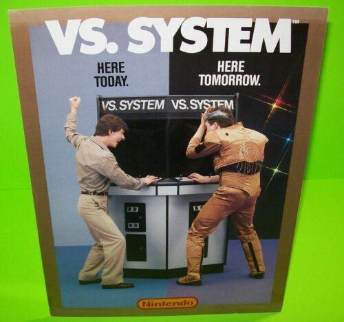Nintendo VS System Arcade FLYER Original 1984 Video Game Promo Artwork Sheet