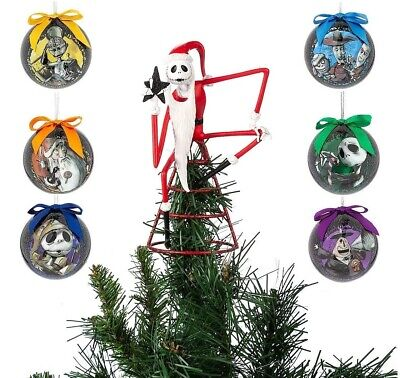 Disney The Nightmare Before Christmas Ornament And Tree Topper Set - New ()