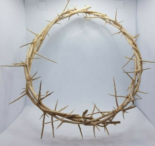 Crown of thorn hand made in Jerusalem from natural rose vein size 20cm