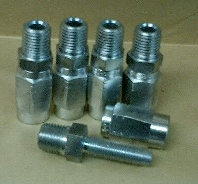 Lot Of 5 Reusable Hydraulic Hose Fittings Male 14 Npt X -4 14 Hose