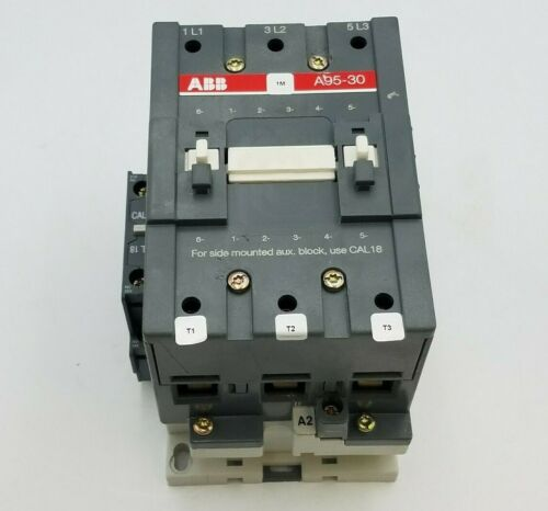 ABB Asea Brown Boveri A95-30 Contactor 125A 600V 3PH Coil 400-480V A9530 Used