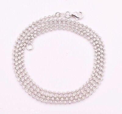 2mm Diamond Cut Moon Cut Ball Bead Chain Necklace Real Sterling Silver 925 - Diamond Cut Ball Chain