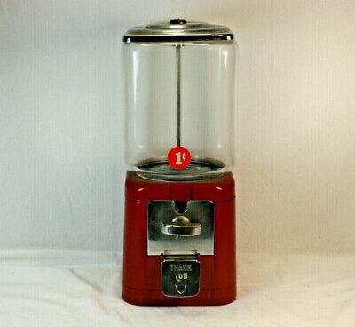 Acorn 1c Gumball Machine H00311 Circa 1950's NO KEY