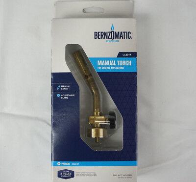 Bernzomatic Ul2317 Brass Pencil Flame Propane Manual Start Torch