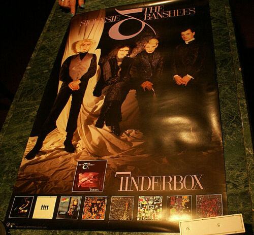 Siouxsie and the Banshees Promo Poster Tinderbox 1986  Never Used Near Mint Rare